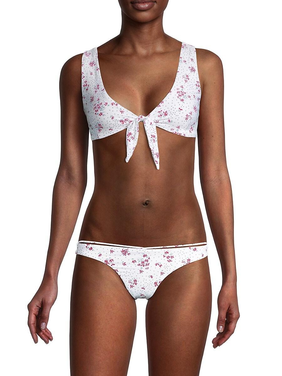 Bond-Eye Women's Sunset Crop Front Tie Bikini Top