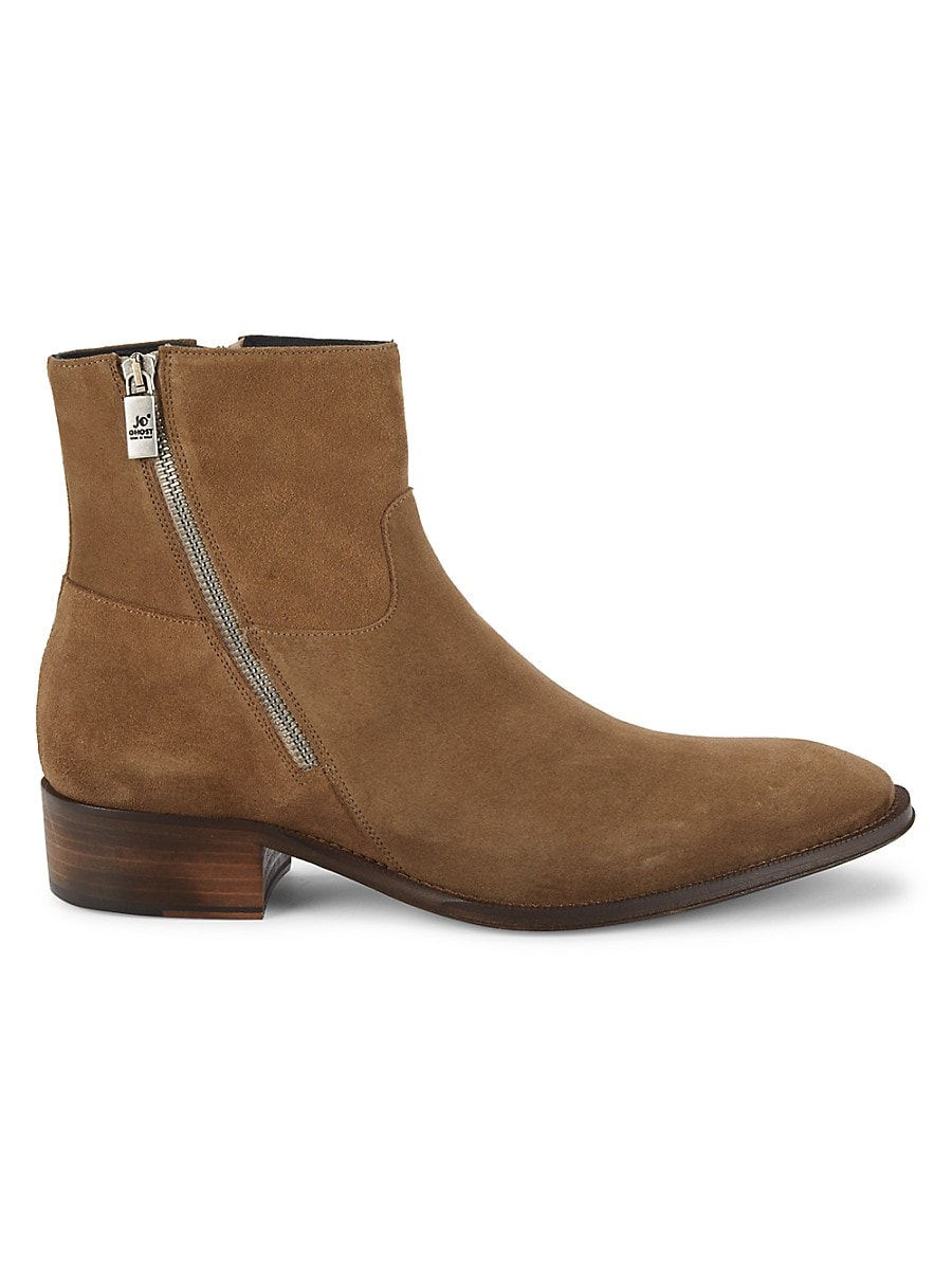Jo Ghost Men's Suede Boots - Olive - Size 13