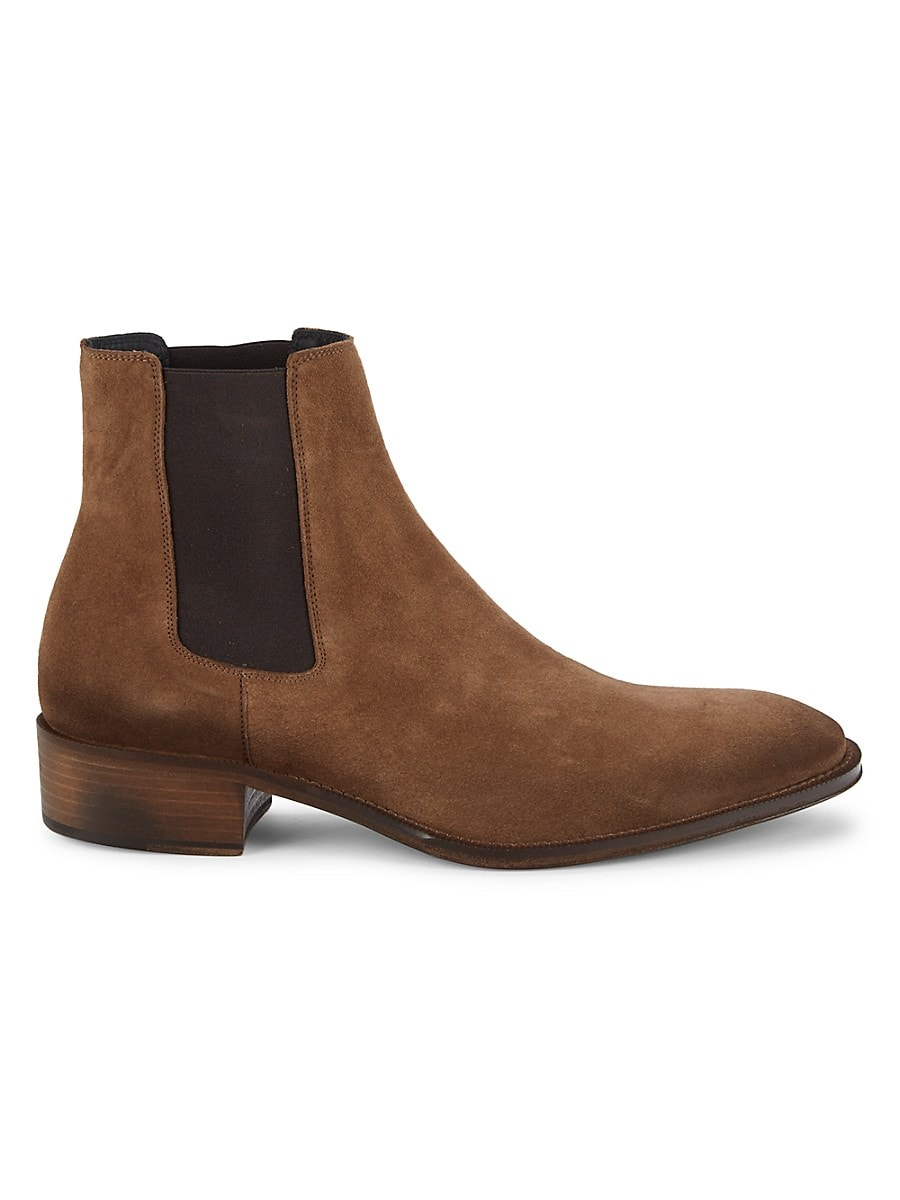 Jo Ghost Men's Suede Chelsea Boots - Brown - Size 13