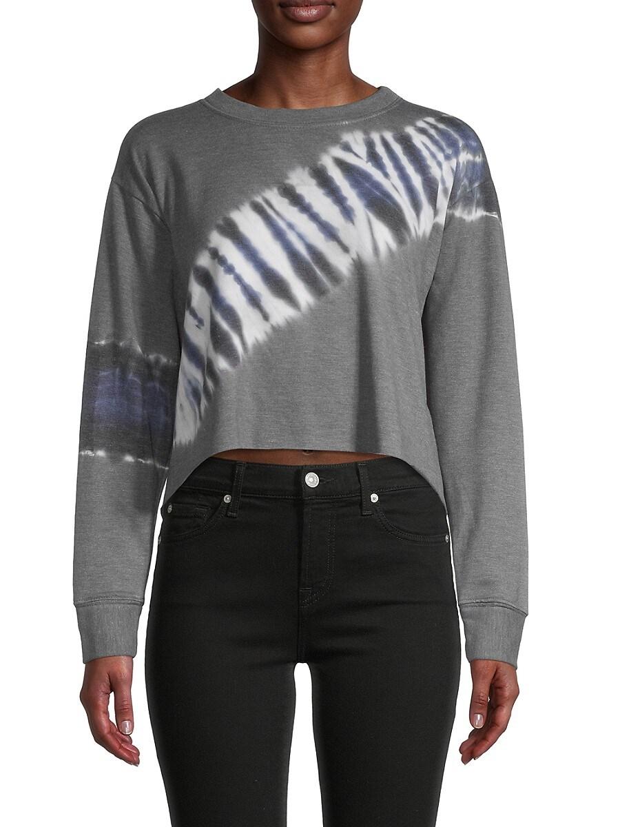 Women's Tie-Dye Cropped Sweatshirt