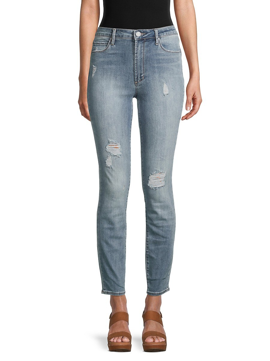 Women's Rene High-Rise Slim Straight Jeans