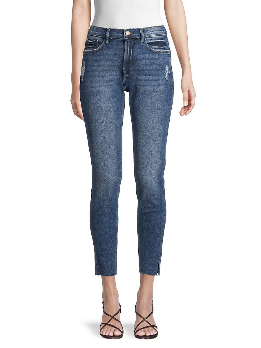 Women's Raw Hem High-Rise Skinny Jeans