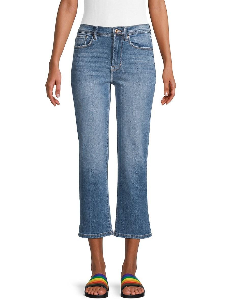 Women's High-Rise Crop Straight Leg Jeans