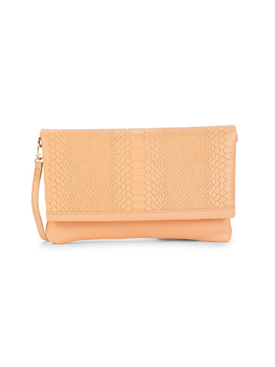 Women's Carly Snakeskin-Embossed Leather Convertible Clutch