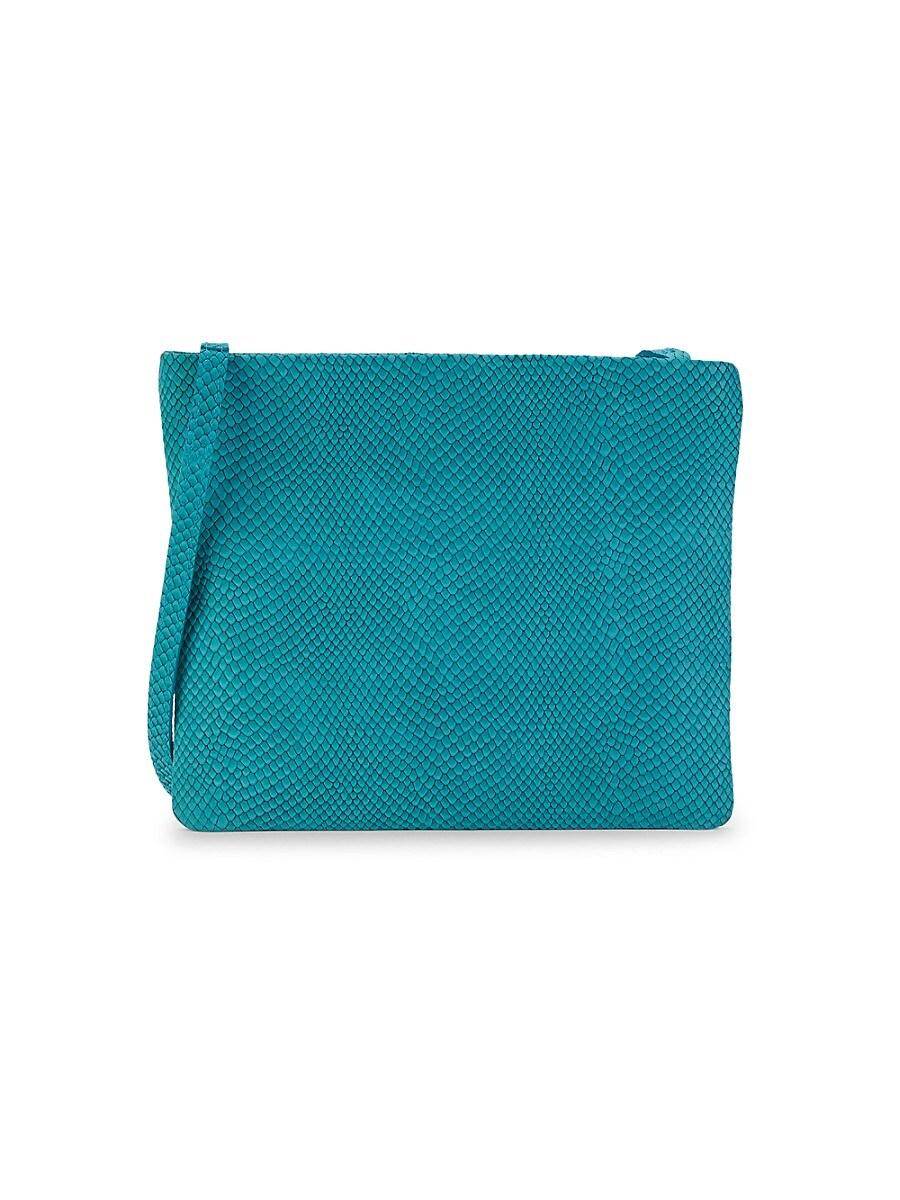 Women's Snake-Embossed Leather Crossbody Bag