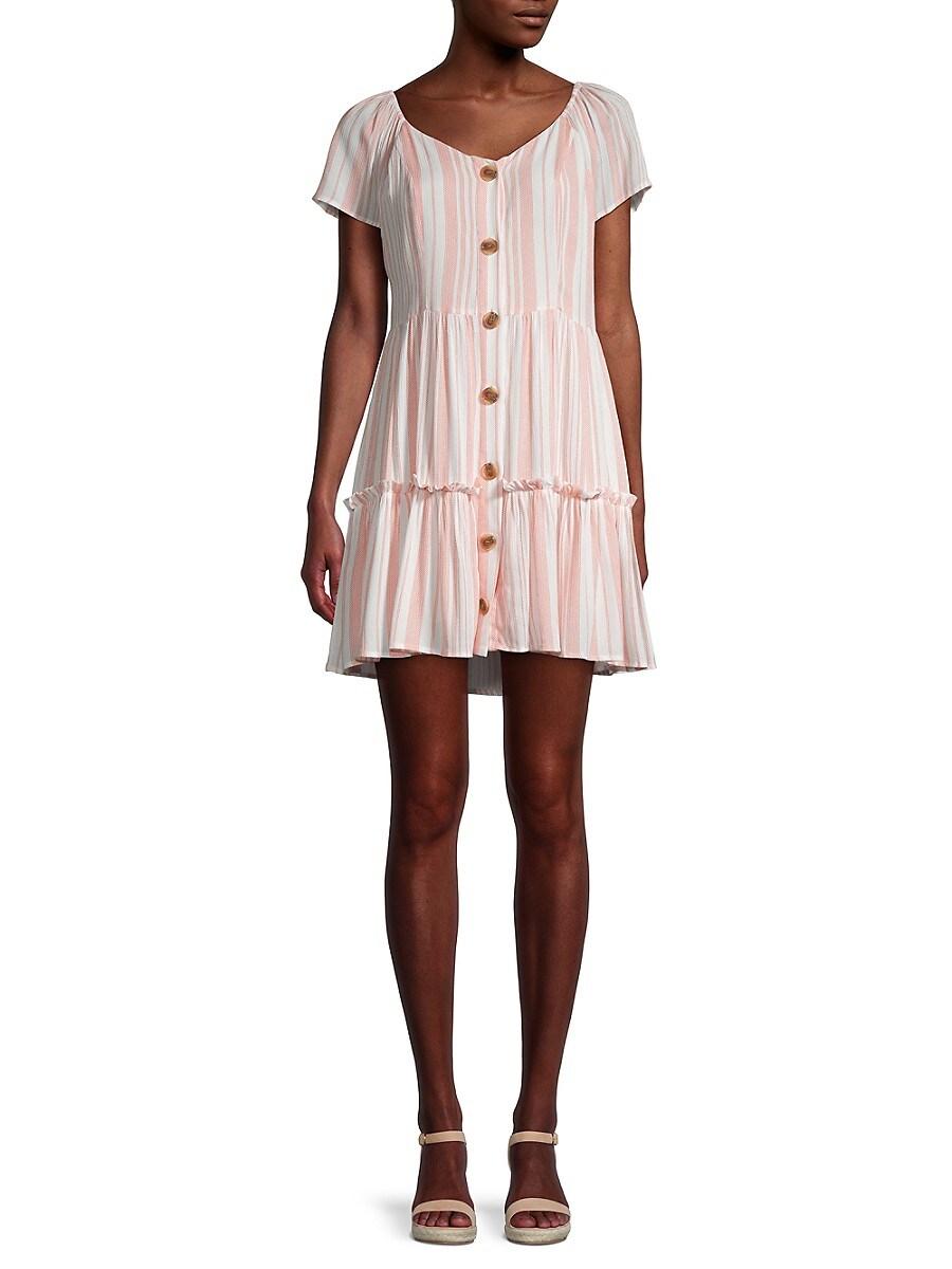 Women's Striped Drop-Waist Dress