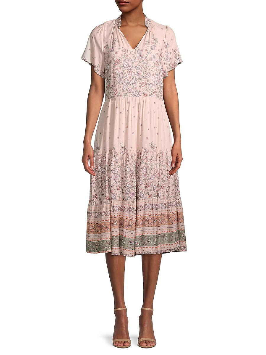 Women's Floral Tiered Dress