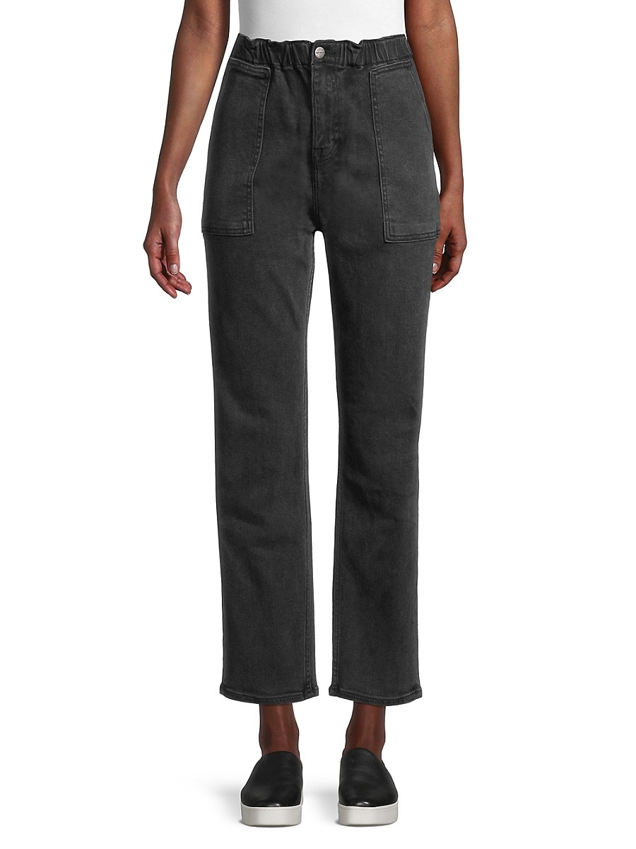Women's Ankle-Cropped Paperbag Jeans