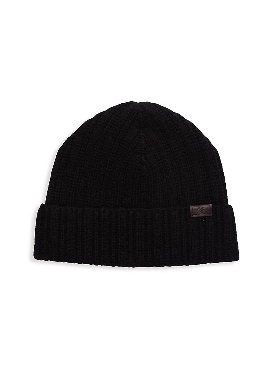 Men's Ribbed Cashmere Beanie