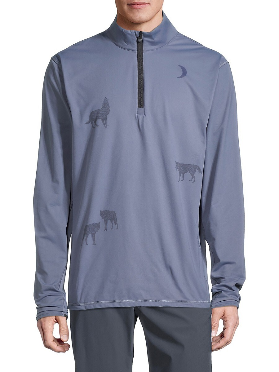 Men's Printed Tate Quarter Zip Sweater