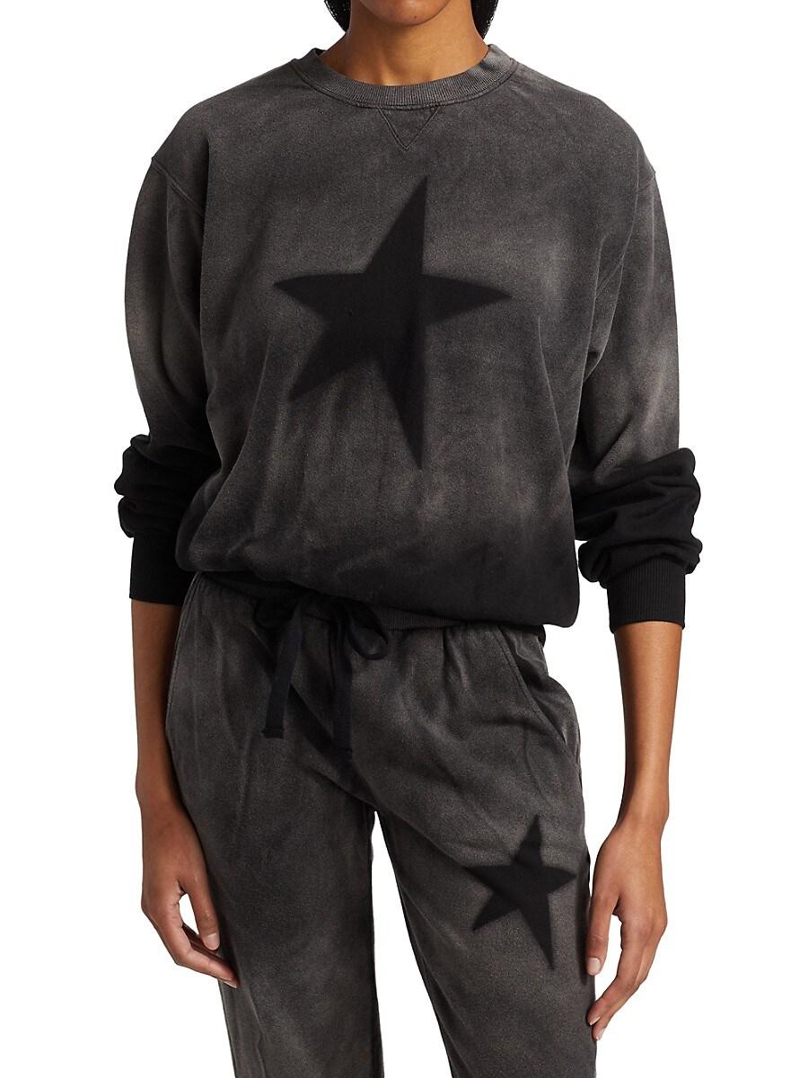 Women's Star Stencil Cropped Sweatshirt