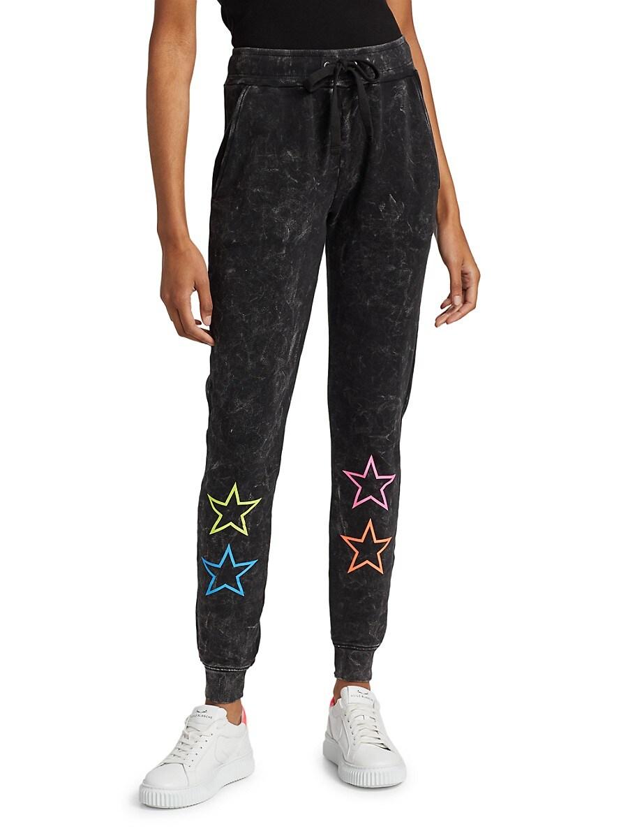 Women's Neon Outline Stars Sweatpants
