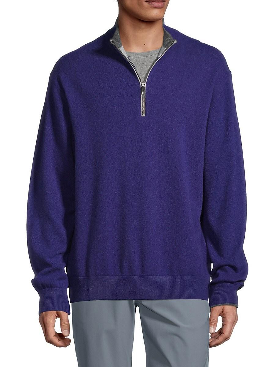 Men's Cashmere & Wool-Blend Quarter-Zip Sweater