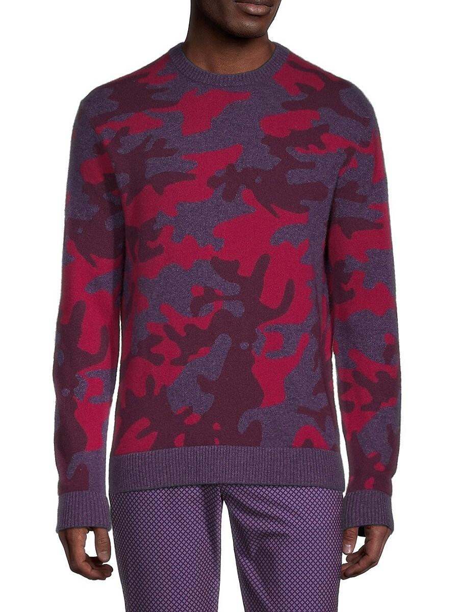 Men's Camo Wolf Crewneck Sweater