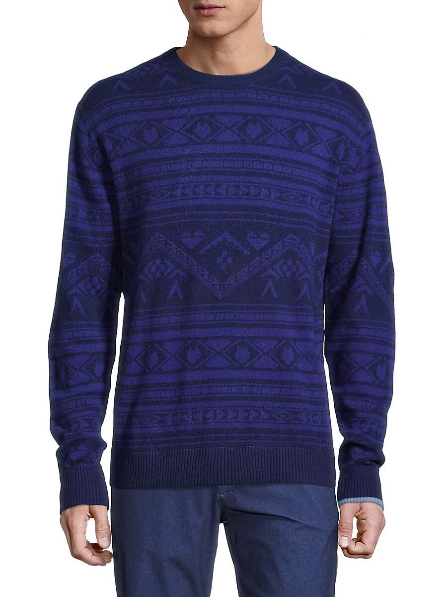Men's Ghostwolf Print Cashmere Sweater