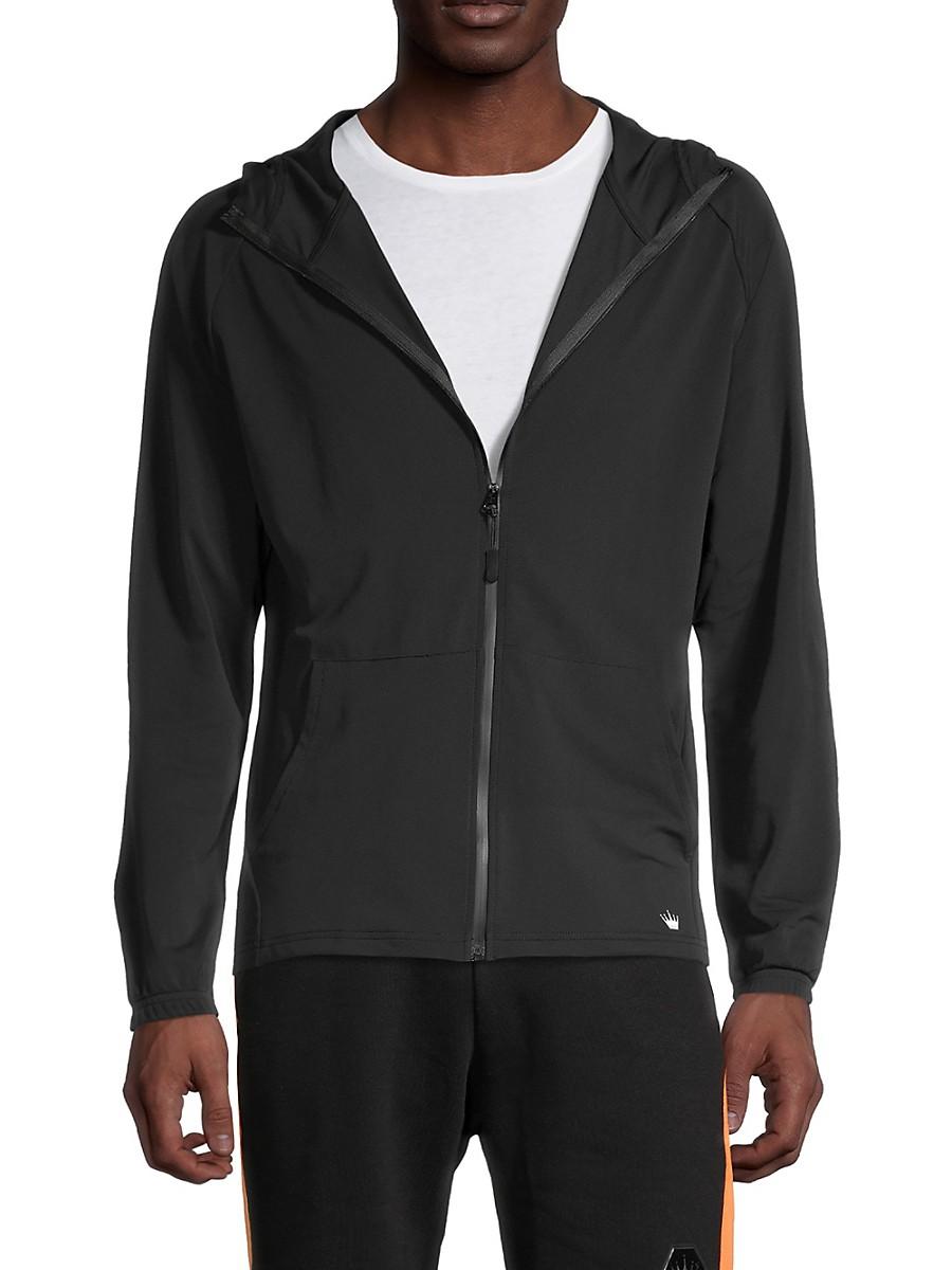 Men's Zip-Up Raglan-Sleeve Hoodie