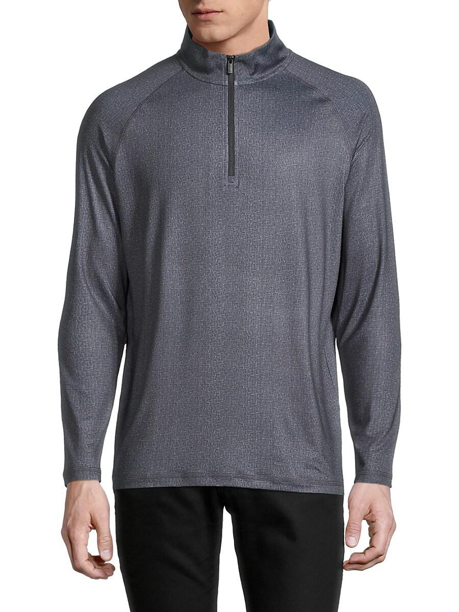 Men's Quarter-Zip Melange Sweatshirt