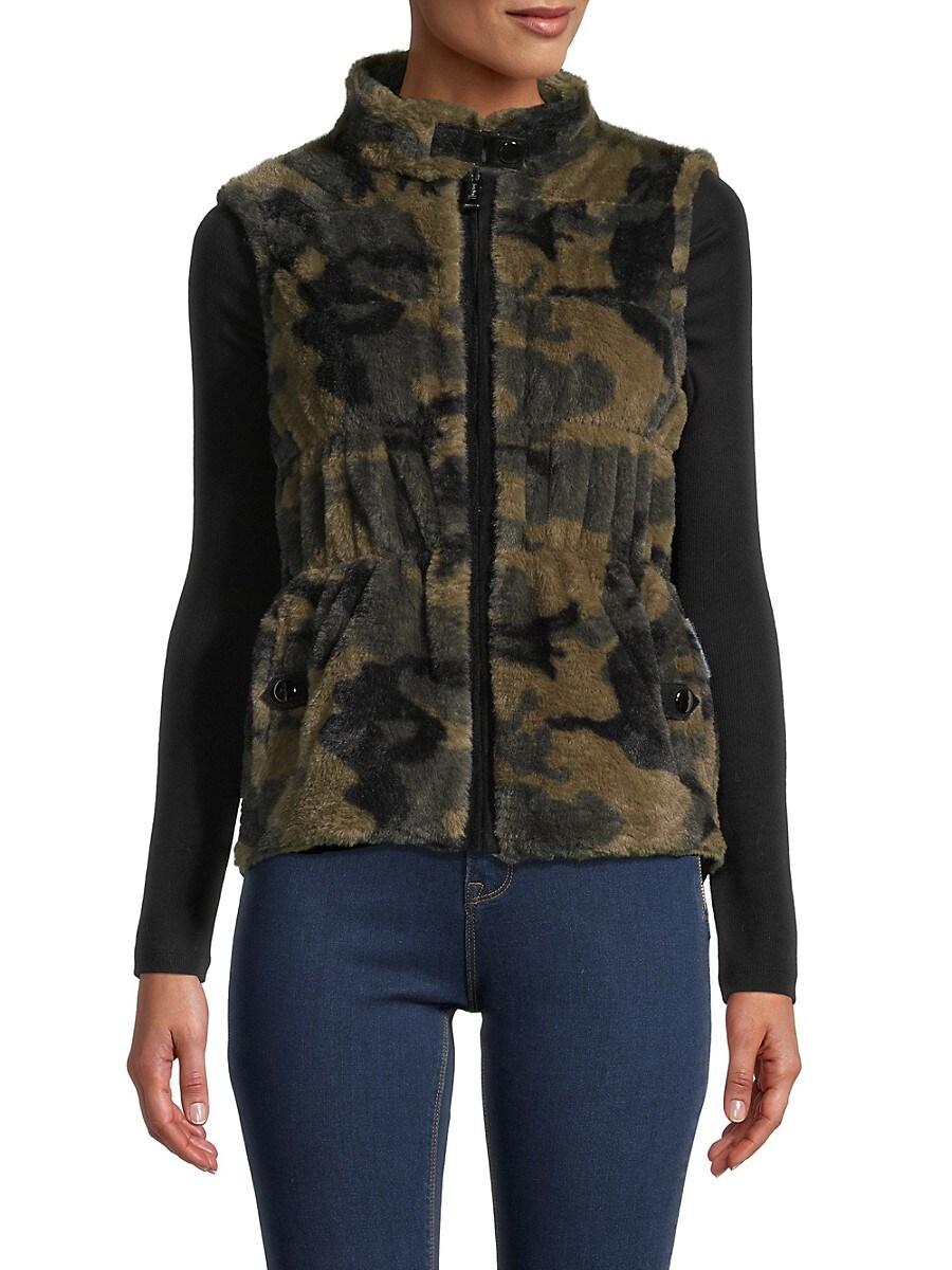 Women's Camo Reversible Faux Fur Vest