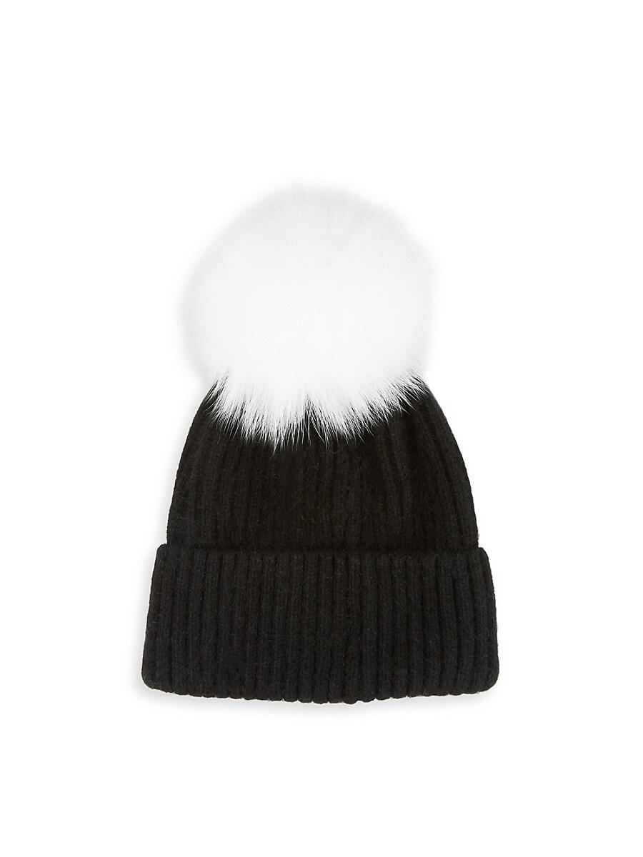 Women's Fox Fur Pom-Pom Hat
