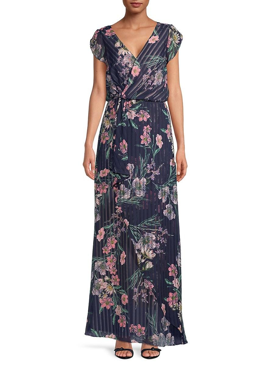 Women's Tulip Sleeve Floral Dress