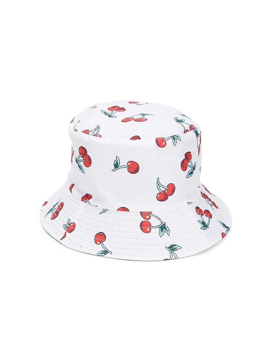 Women's Cherry-Print Bucket Hat