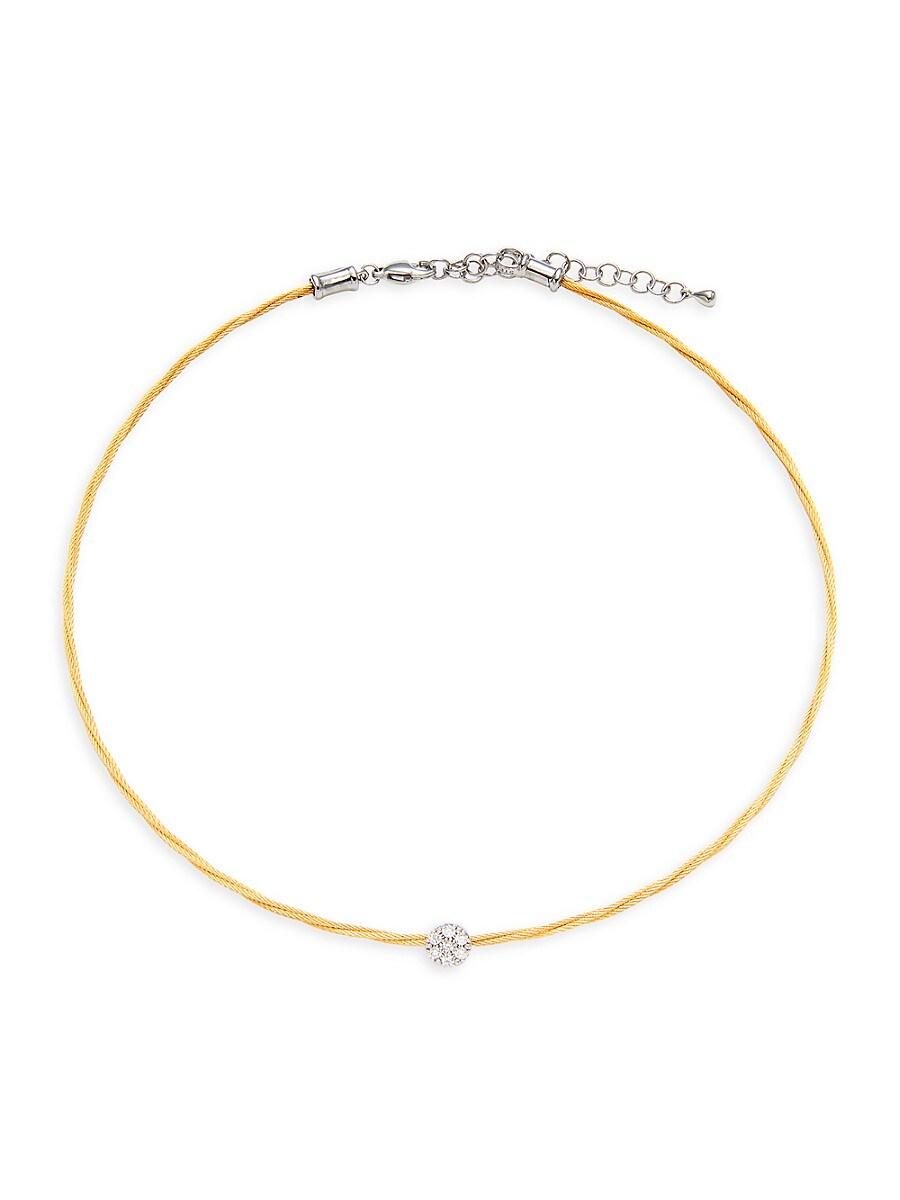 Women's 18K Two-Tone Gold & Diamond Chain Necklace