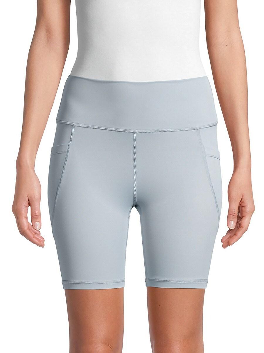 All Fenix Women's All Core High-Waist Bike Shorts - Light Blue - Size XL