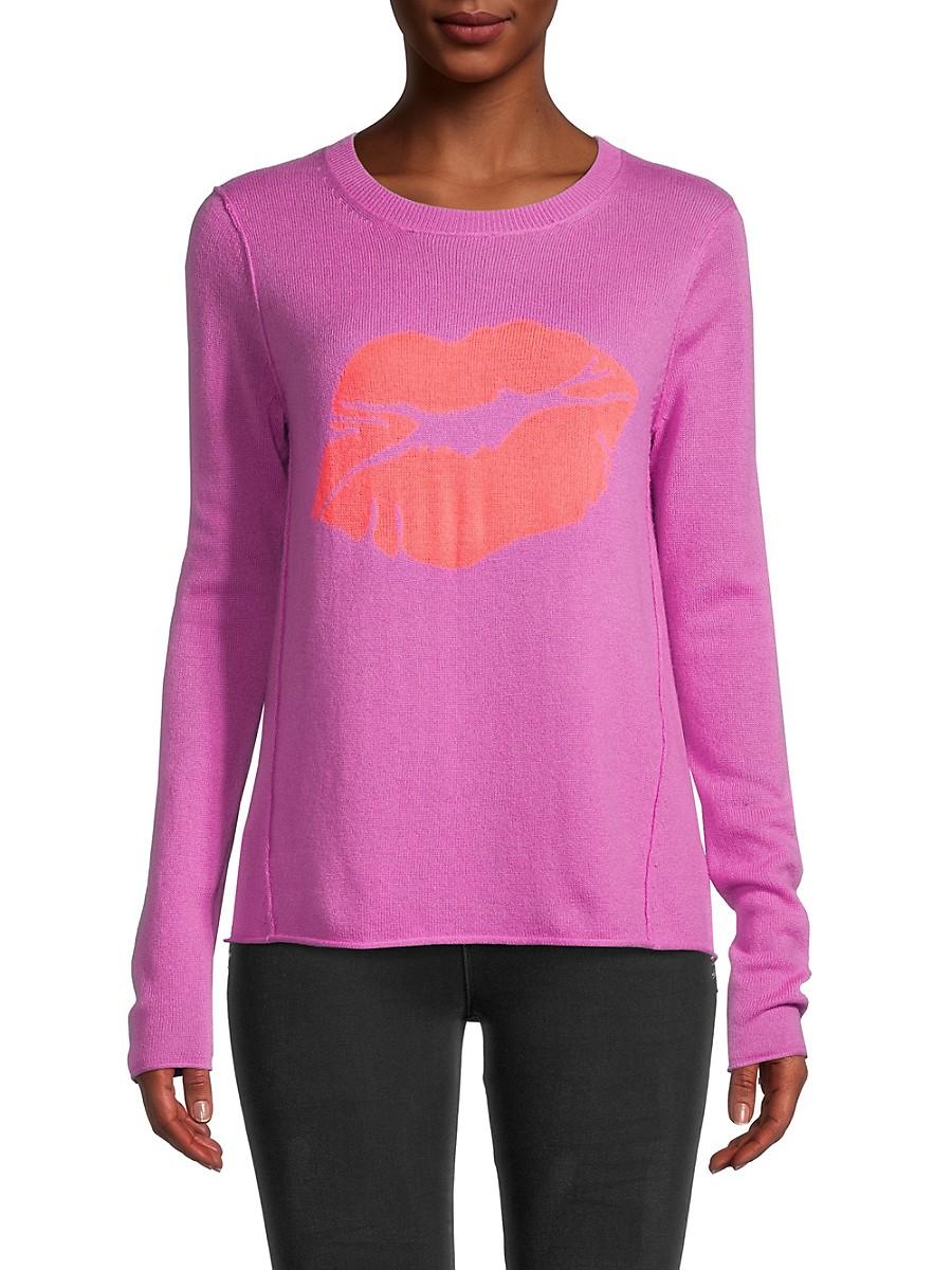 Women's Lips Graphic Wool & Cashmere Sweater