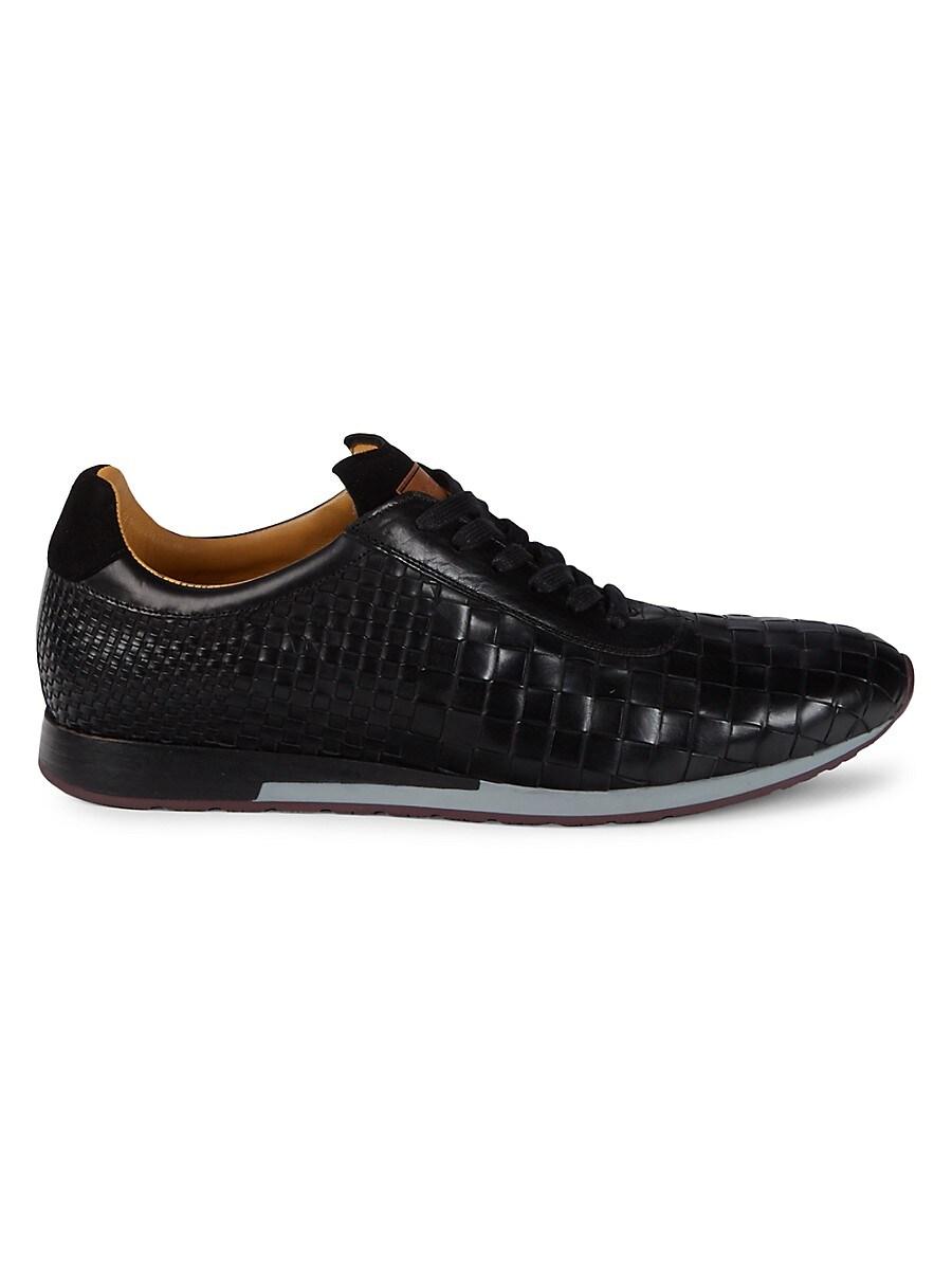 Men's Toronado Woven Leather Sneakers