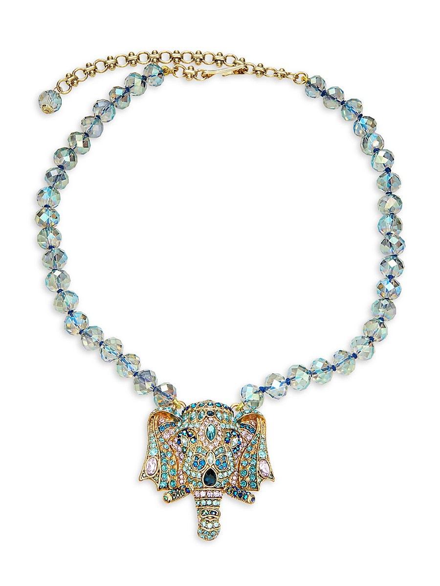 Women's Goldtone & Crystal Pendant Necklace