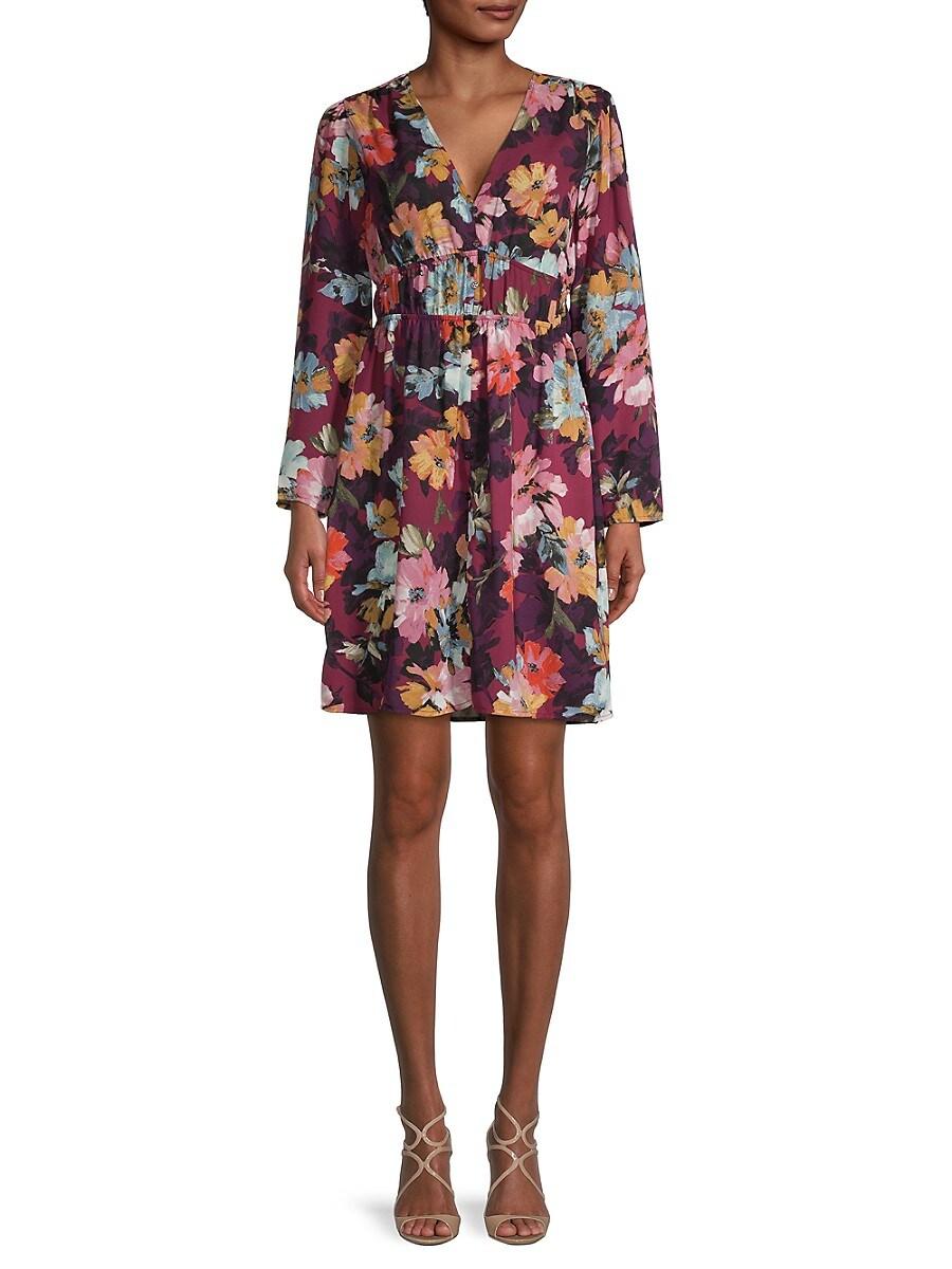 Women's Floral Fit-&-Flare Dress