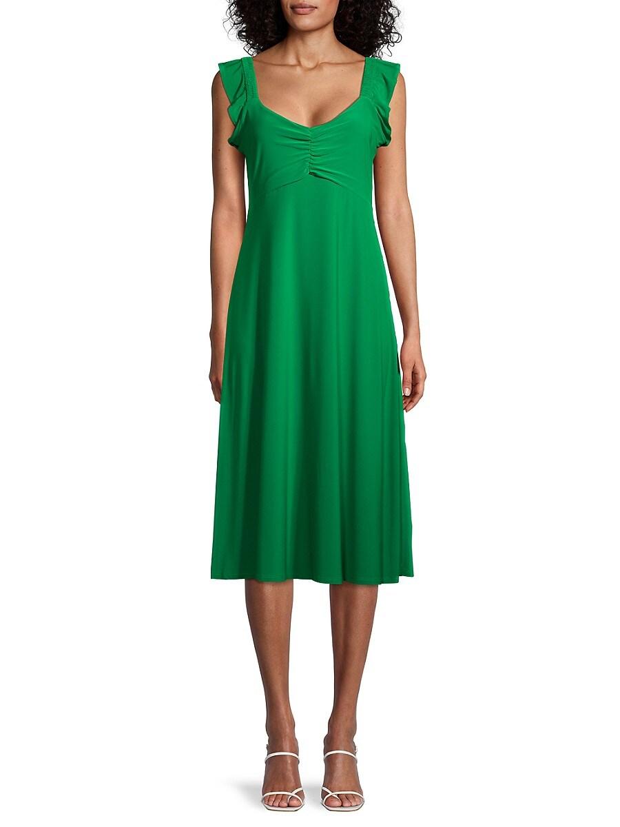 Women's Ruched Empire-Waist Dress