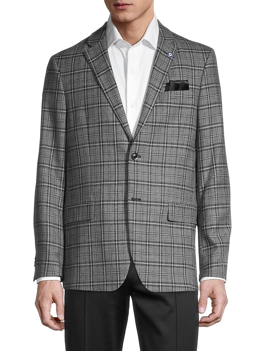 Men's Regular-Fit Plaid Blazer