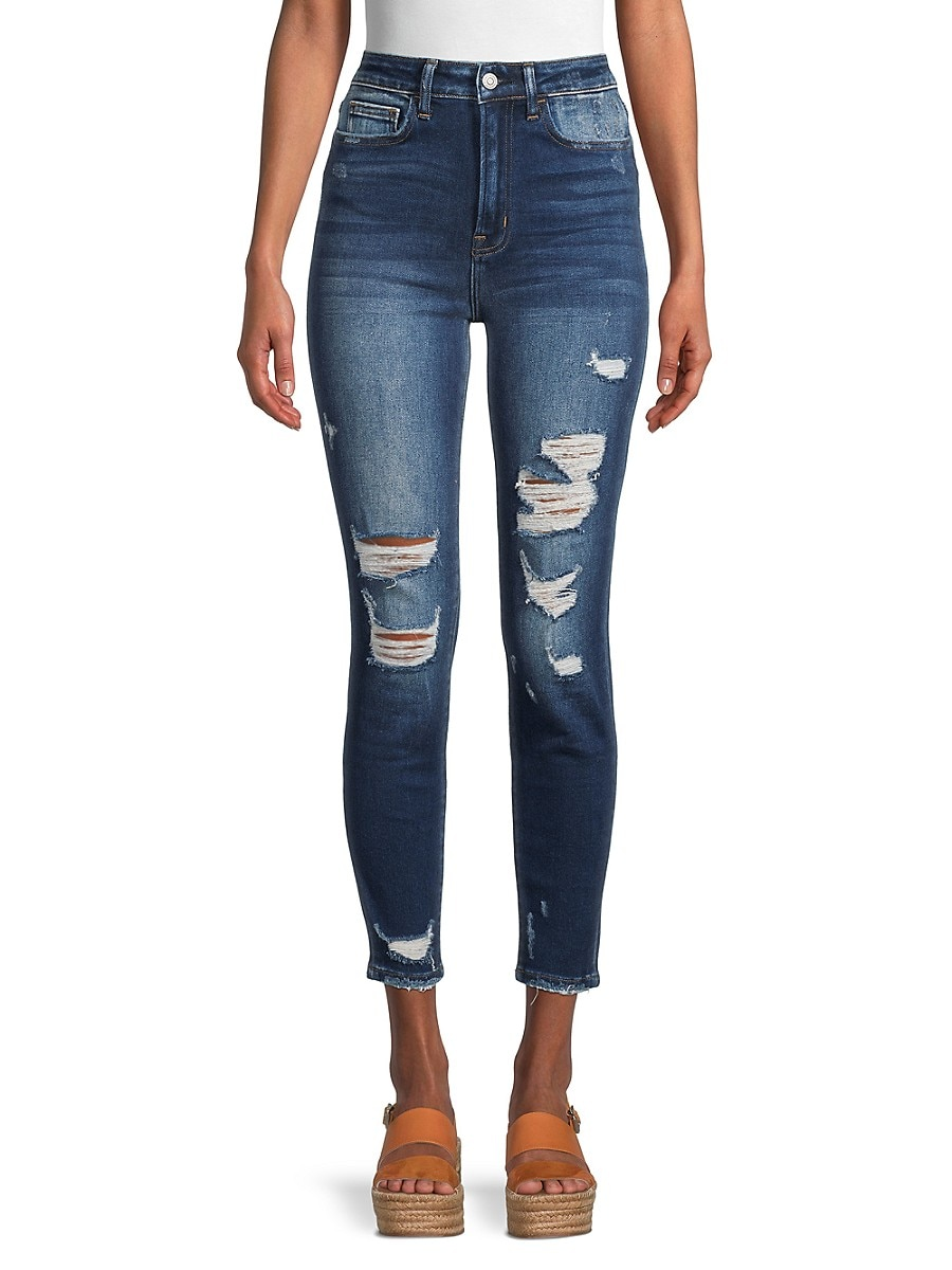 Women's High-Rise Distressed Super Skinny Jeans