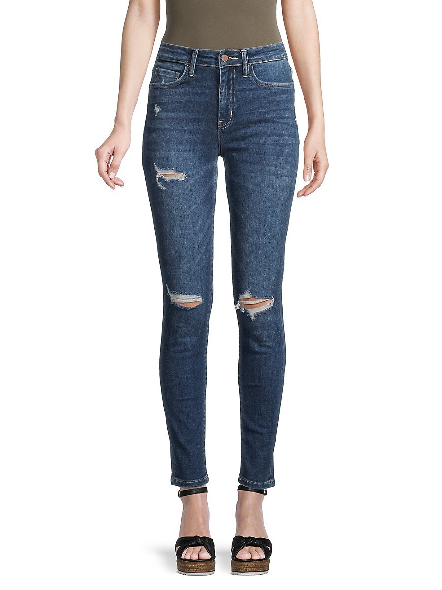Women's High-Rise Distressed Skinny Jeans