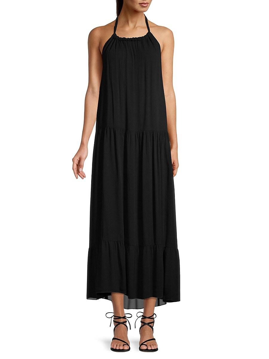 Women's Halterneck Tiered Maxi Dress