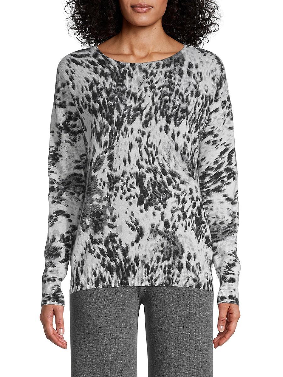 Women's Leopard Cashmere Sweater