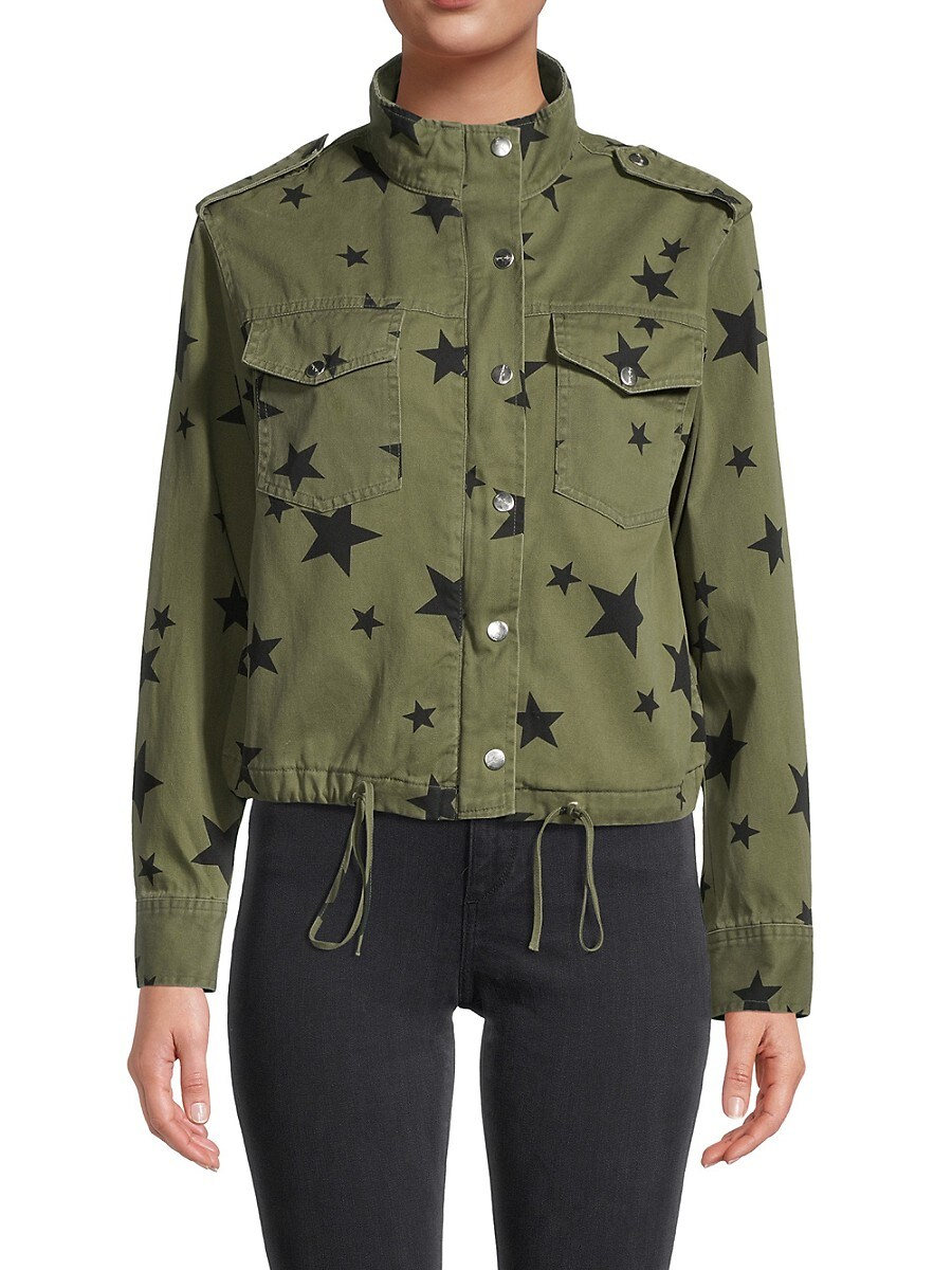 Women's Star-Print Utility Jacket