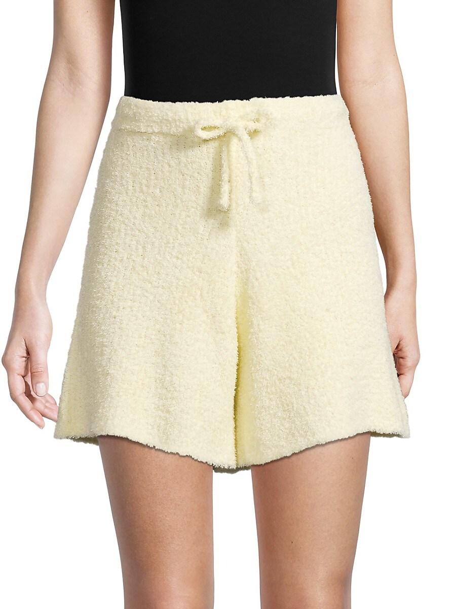 Women's Fuzzy Drawstring Shorts
