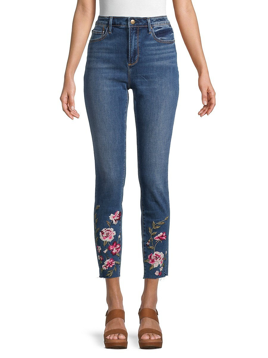 Women's Jackie High-Rise Embroidered Jeans