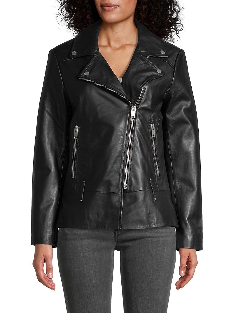 Women's Solar Leather Moto Jacket
