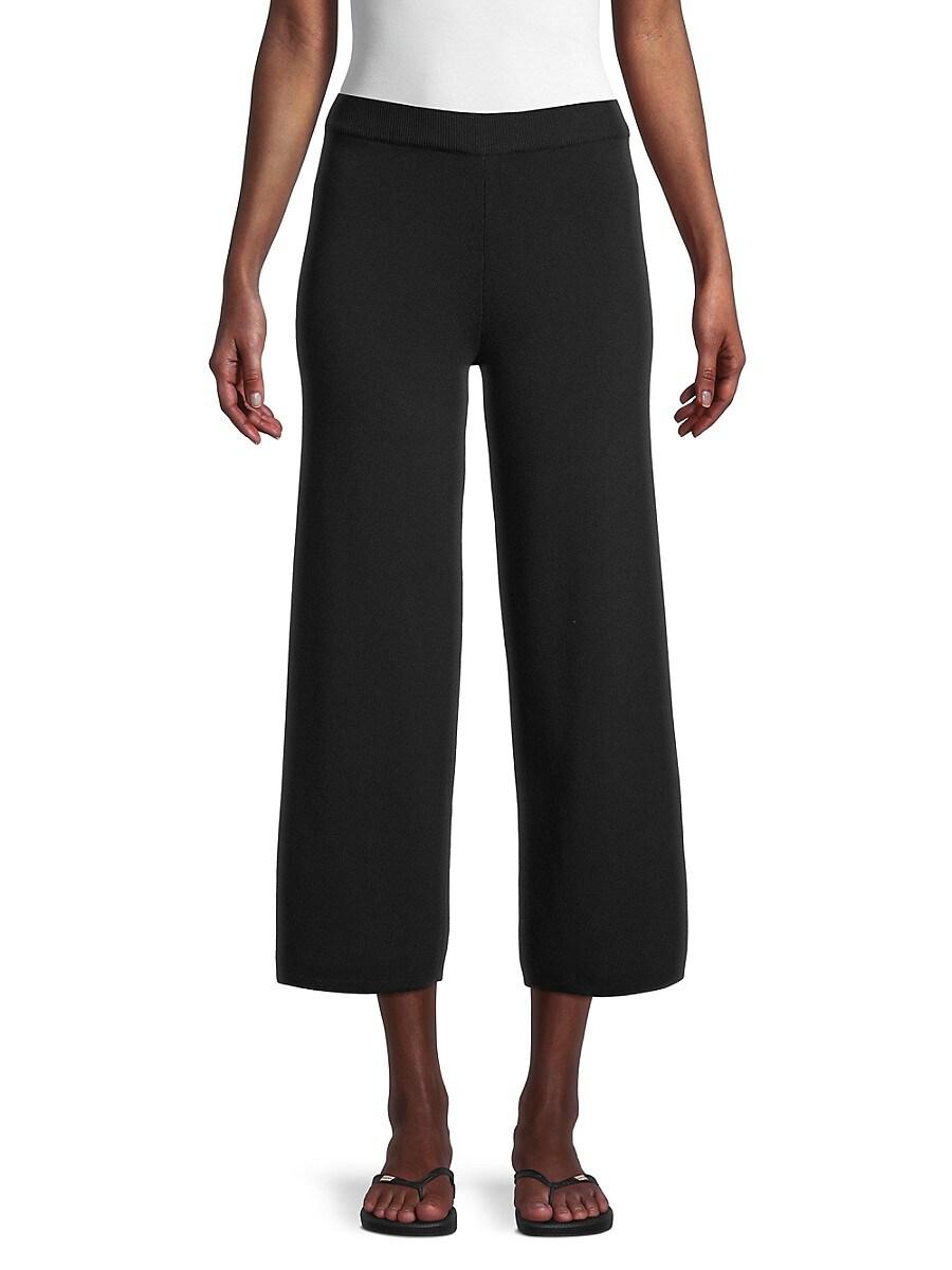 Women's Sweater Wide-Leg Cropped Pants