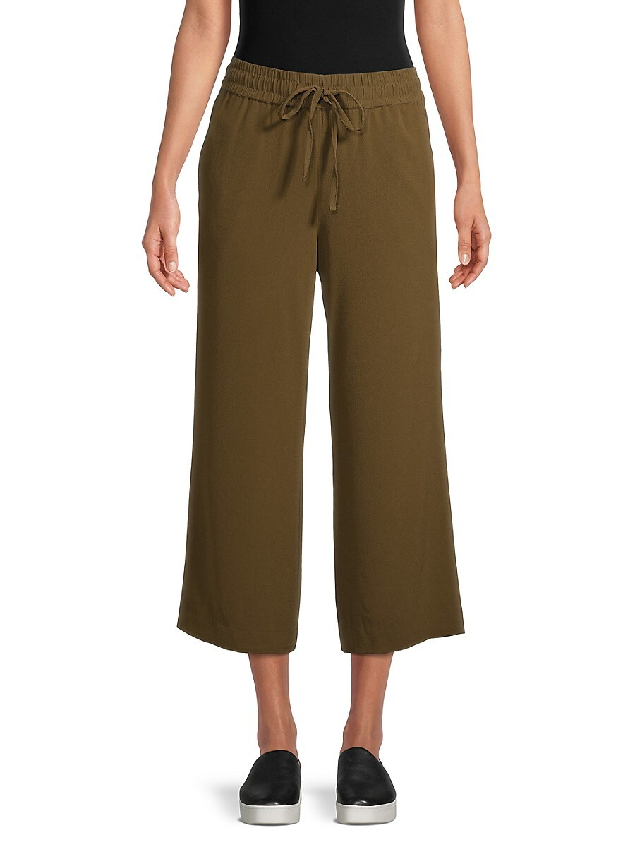 Women's Cropped Wide-Leg Pants