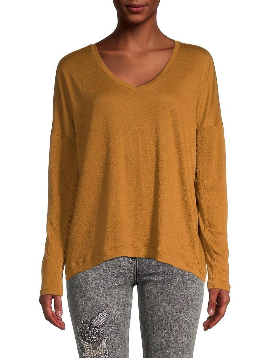 Women's Long Sleeve V-Neck T-Shirt