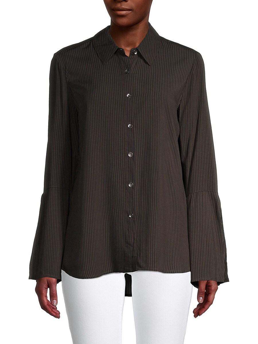 Women's Striped Button-Front Shirt