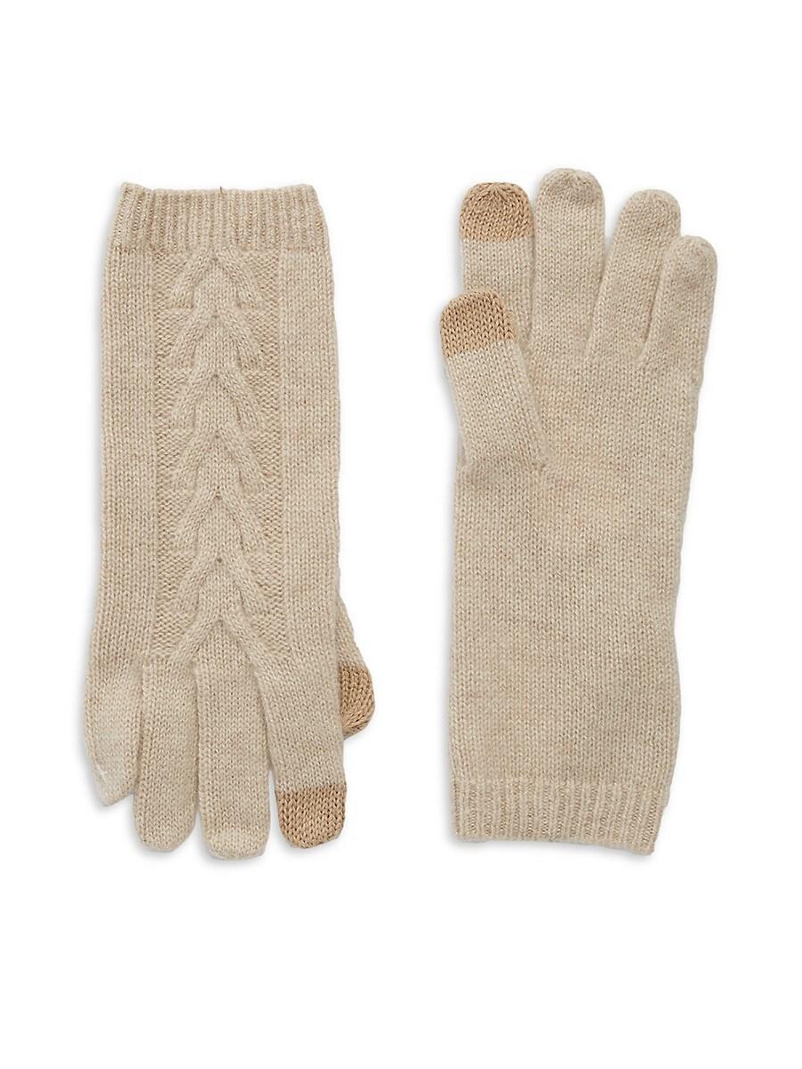 Women's Cashmere Cable-Knit Tech Gloves