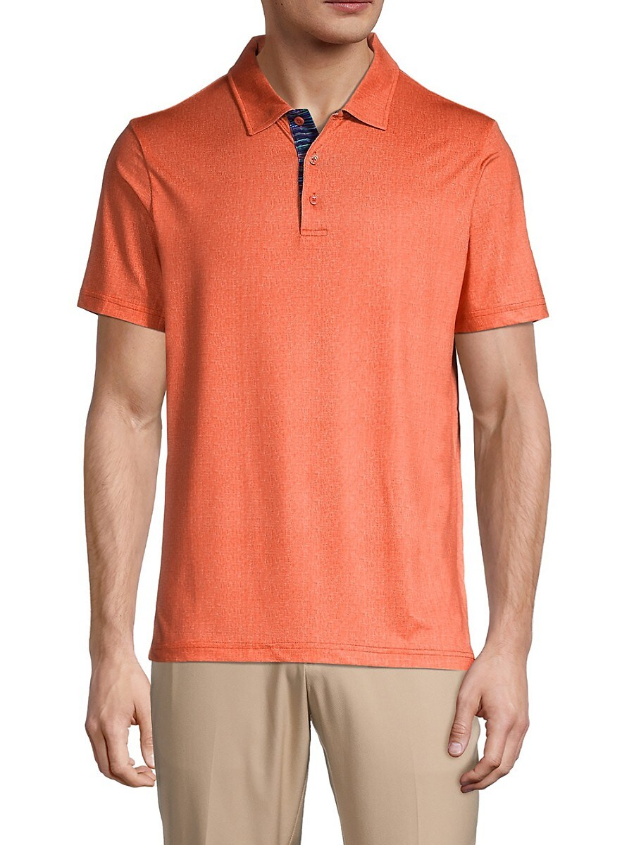 Men's Solid Regular-Fit Polo