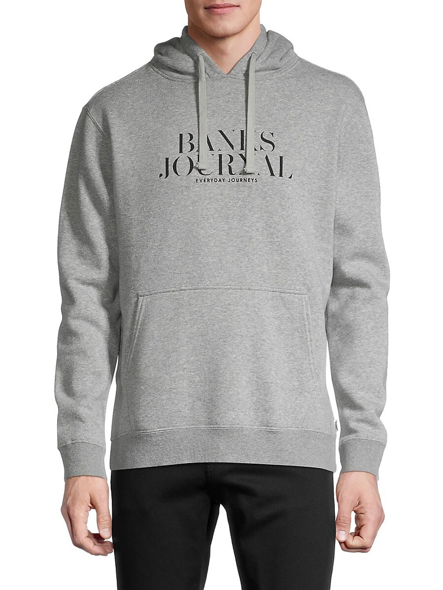 Men's Heathered Logo Organic Cotton & Recycled Polyester Hoodie