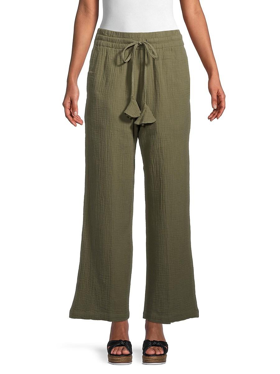 Women's Cotton Wide-Leg Pants