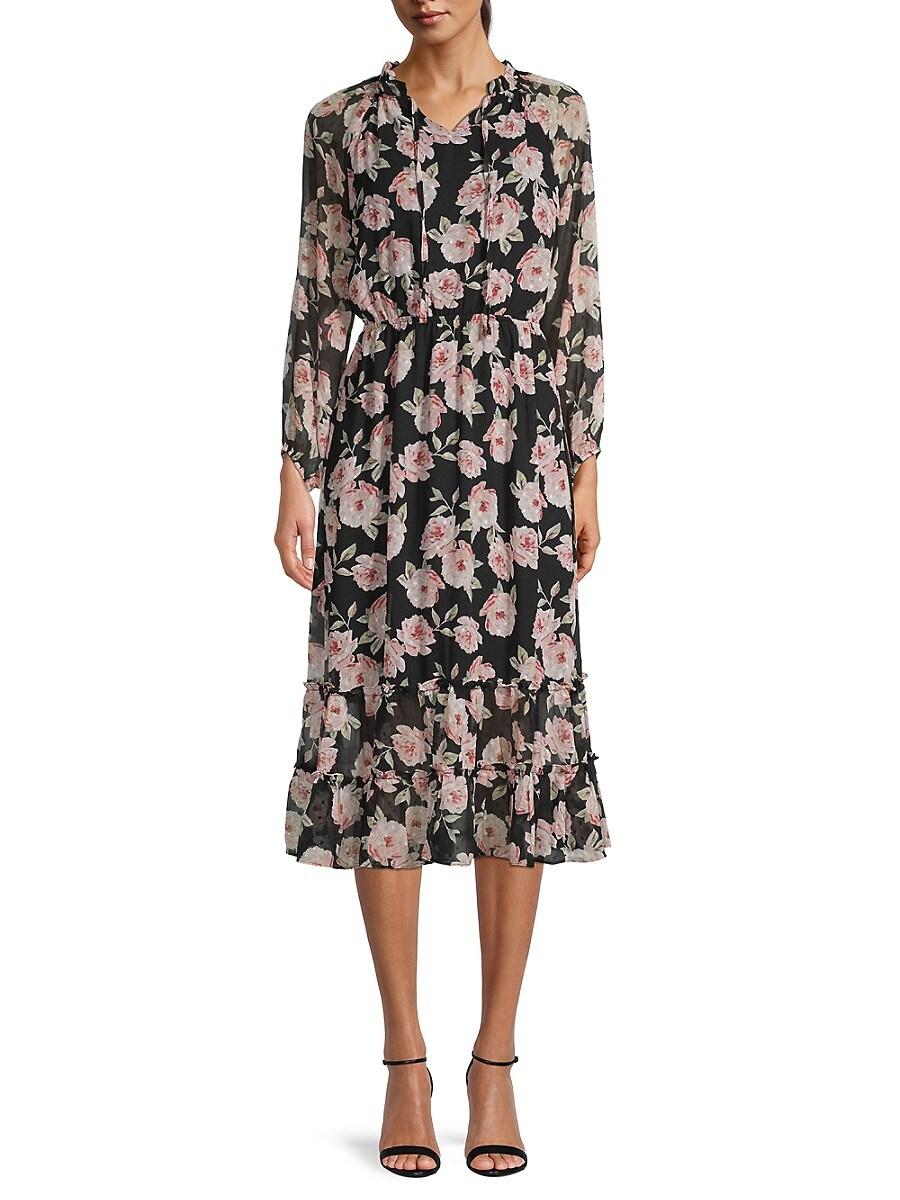 Women's Ciffon Ruffle Dress